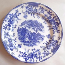 """Quadrifolio Italy   Blue & White Toile Pattern Luncheon  Plate 9.5"""" Scal... - $21.00"""