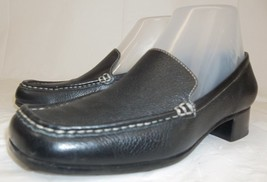 ETIENNE AIGNER Womens US 6.5 Black Leather Slip... - $32.50
