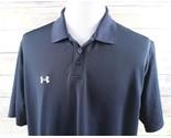 Under Armour UA Performance Team Golf Polo Shirt MENS LARGE black heatgear