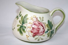 Portugal Hand Painted Floral Squat Pitcher    #1471 - $24.00