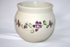 Gabriel Sweden Art Pottery Hand Painted Pansy Flower Pot   #1472 - $50.00