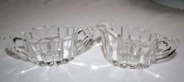 Heisey Elegant Crystolite Small Creamer & Open Sugar Set  #1165 - $10.00
