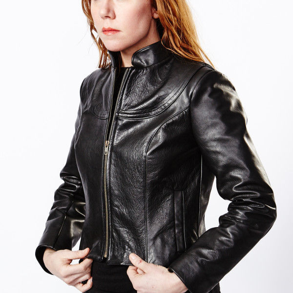 Winter Women Leather Motorcycle Women Genuine Leather Jacket Biker Jacket HL-188