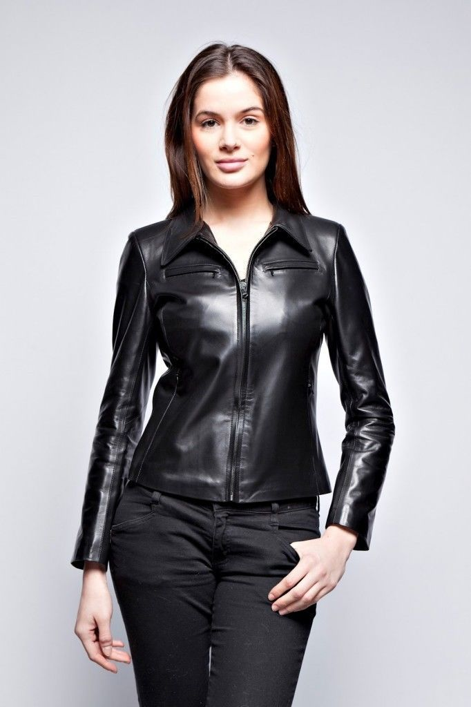 Winter Women Leather Motorcycle Women Genuine Leather Jacket Biker Jacket HL-190