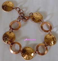 2010 Lucky Penny Bracelet 7th Birthday Anniversary Gift With Solid Copper Rings - $33.75