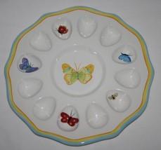 Department 56 Butterfly Garden Deviled Egg Plate  #1976 - $32.00