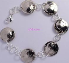 2003 Dime Charm Bracelet 14th Anniversary Birthday Gift Silver Usa Coin Jewlery! - $29.99