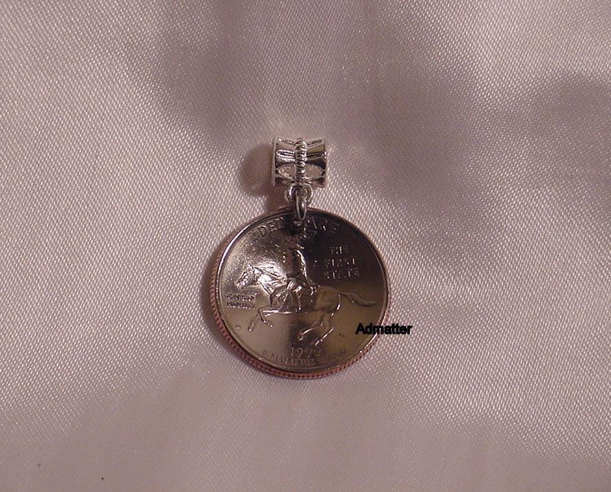 2005 MINNESOTA QUARTER NECKLACE PENDANT BRACELET KEYCHAIN CHARM 10000 LAKES COIN - $9.74