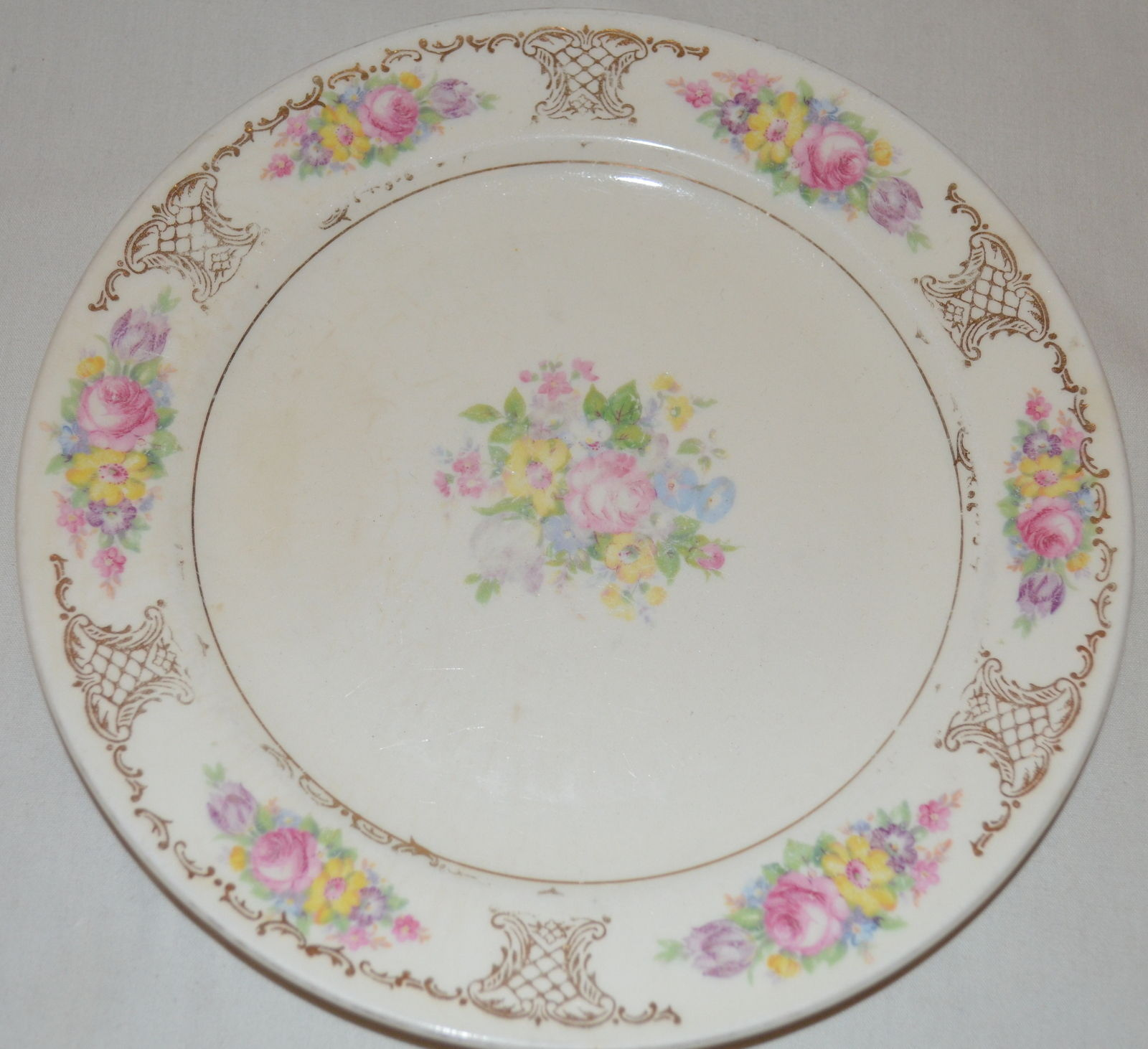 S l1600 & Semi Vitreous Edwin M Knowles Floral Saucer and 50 similar items