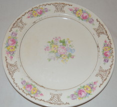 Semi Vitreous Edwin M Knowles Floral Saucer - $22.76