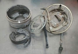 1988 Suzuki quadrunner LTF 250 4x4 rear brake drum assem. shoes housing ... - $92.55
