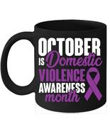 Awareness Month Domestic Violence October Mugs - $15.95