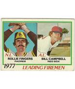 1977 Leading Firemen Baseball Card #208 - $3.95