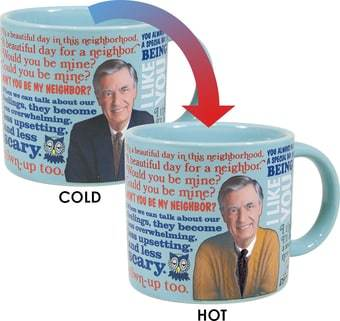 Mister Rogers Mug Heat Activated Sweater Changing Mr. Fred Rogers Neighborhood