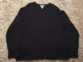 Old Navy Men's Blue 100% Lambswool V-Neck Sweater, Size L - $27.99