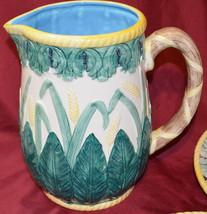 Harvest Handpainted Ceramic Pottery Pitcher - $39.59