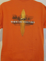 hawaii surfing longboards art orange L  large T shirt - $19.79