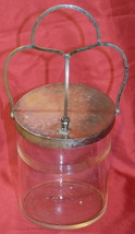 Vintage Clear Glass Canister Container Jar - $39.59