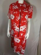 Women's Hilo Hattie 2 piece  Red and White Dress Muu Muu Mid Calf Size S... - $59.39