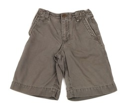 GAP Kids Chino Twill Boys Shorts Green Brown Olive Taupe  Slim Thin 8 - $7.91