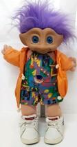 Treasure Troll Doll Purple Ace Novelty 1991 Custom Rawlings Shoe Vintage... - $49.49