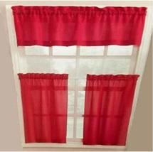 Red Kitchen Window Curtain Set 3 PC - $19.99
