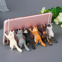 1PC Cute Cat Phone Holder Support Resin Mobile Smartphone Holder Stand S... - £2.90 GBP