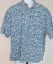 Big Dogs Blue Casual Button Front Shirt Size XL - $40.58