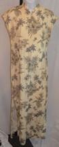 Women's Hilo Hattie Beige Long Dress Ankle Length Size M - $59.39