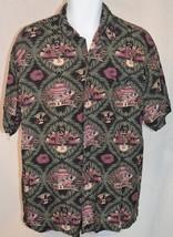 Big Dog Life's A Beach Girls Margaritas Multi Color Hawaiian Shirt Size L - $34.64