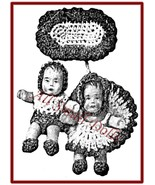 Vintage Doll Pattern for Crochet Baby Doll Scatter Pins + 2 Baby Dolls - $7.99