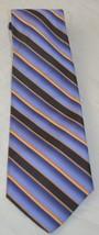 Men's Robert Talbott Blue Gold Stripes Handsewn Finest Silk Neck Tie - $39.59