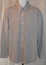 Arrow Gray Striped Long Sleeve Dress Shirt Size L 16-16.5 - $19.79