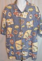 Big Dogs Blue Hawaii Button Front Short Sleeve Shirt Size 2XL - $49.49