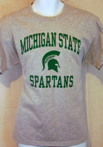 michigan state spartans college university sports gray large T shirt - $24.74