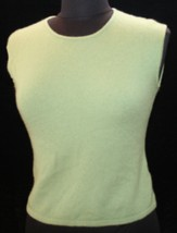 Ann Taylor 100% Two Ply Cashmere S Sleeveless Sweater Womens Shell Vest ... - $25.84