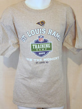 st louis rams nfl football team training camp gray size xL extra large T... - $24.74