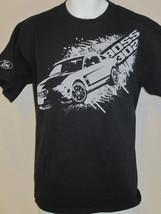 ford mustang car horse art black L large T shirt - $19.79
