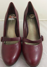 "Women's Burgundy Nine West Shoes size sz 9 1/2 9.5   heel 4"" - $39.59"