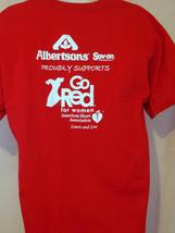 albertsons grocery store american heart association art red T Shirt Size xl - $19.79