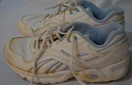 Reebok Women's White Blue Sneakers Tennis Shoe Size 6.5  6 1/2 - $49.49