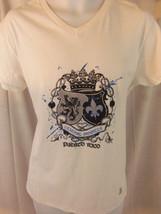 puerto rico crown shields travel vacation island art white medium m T shirt - $19.79