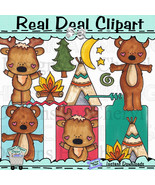 Woodland Camping Clip Art - $1.25