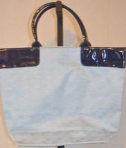 Estee Lauder Blue Large Tote Shopper Handbag Purse - $29.69