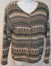 Eddie Bauer Women's Mulri Color Cargidan Sweater Size M - $39.59