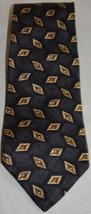 Men's Robert Talbott Studio Black Brown Gold Handsewn Silk Neck Tie - $29.69