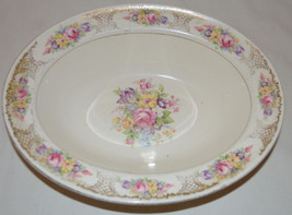 Semi Vitreous Edwin M Knowles Floral Serving Bowl - $24.74