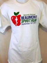 beaumont spirit run apple 2011 2012 art white large L T shirt - $19.79