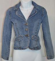 Women's Girl's Guess Jeans Blue Denim Jacket Size sz M (10/12) - $49.49