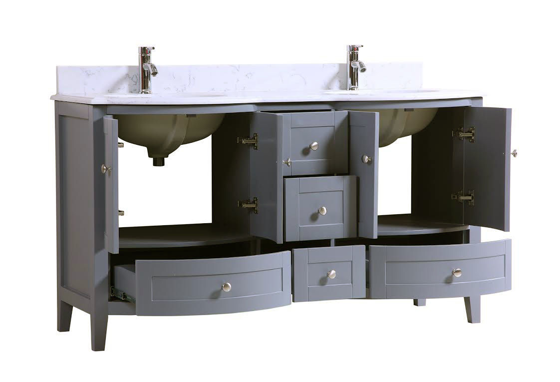 60 double sink bathroom vanity cabinet 60 inch sink bathroom vanity cabinet grey with 24789